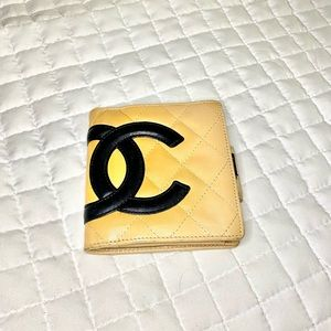 Chanel Wallet Beige Cambon Lamb Leather